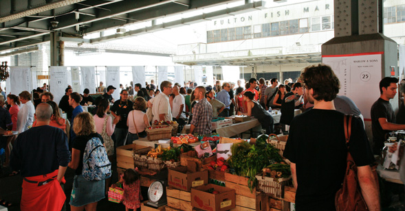 New amsterdam market for New fulton fish market